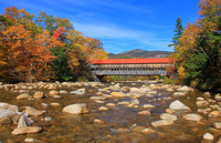 Albany Covered Bridge and Swift River in Autumn