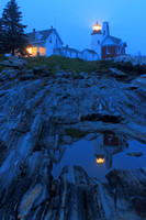 Pemaquid Point Lighthouse Twilight Reflection