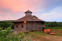 Round Barn in Petersham Sunset
