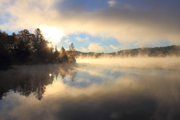 Barton Cove Connecticut River Sunrise Fog