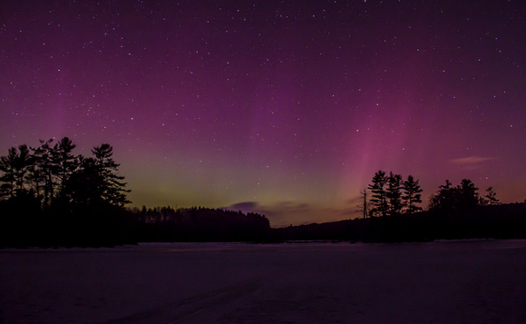 Harvard Pond Northern Lights March 2015