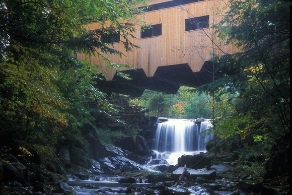 Bissell Covered Bridge and Falls Charlemont