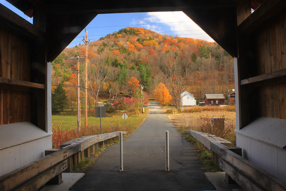 Arthur Smith Covered Bridge View of North River Valley