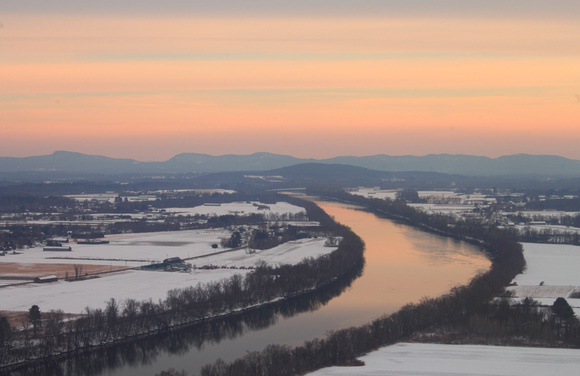 Mount Sugarloaf Connecticut River Winter Sunset