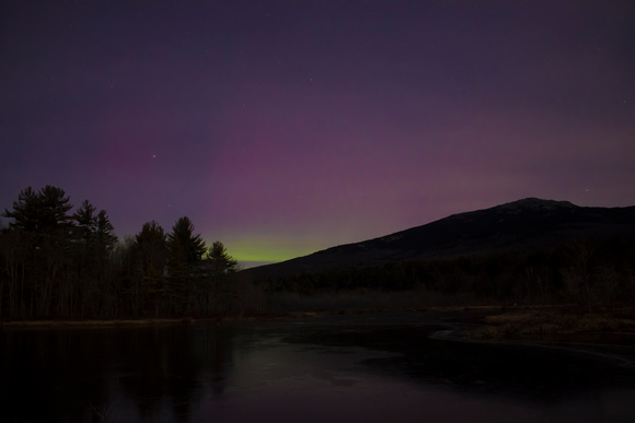 Mount Monadnock and Northern Lights