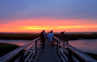 Bass Hole Boardwalk Sunset