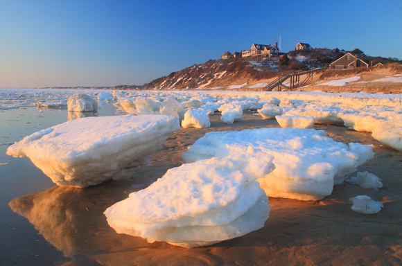 Cape Cod Bay Great Hollow Beach Ice March 2015